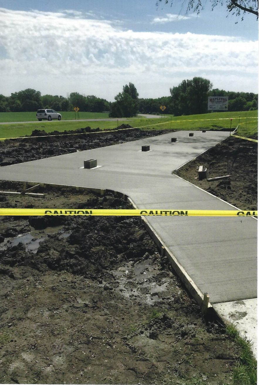 Cement Pad Poured By Jamie Will Masonary