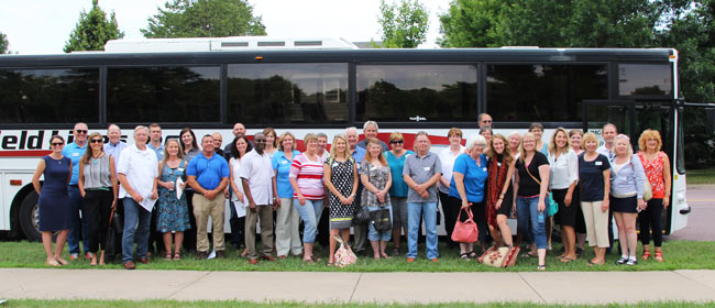 SMIF Stakeholders On The Bus Regional Bus Tour Visits Rice Le Sueur Sibley And Nicollet Counties